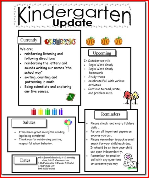 Parent Letter Preschool preschool newsletters for parents pictures to pin on