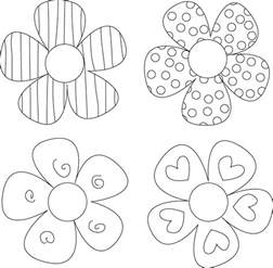 Petal Placement Template by 8 Best Images Of Free Printable Flower Outline Patterns