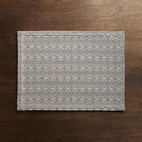 marrakech grey placemat crate and barrel