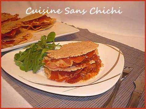 recette tuile au parmesan recettes de tuiles et jambon