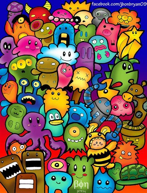 doodle characters monsters colored 1000 images about on flies away