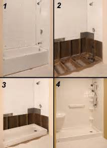 Bath Shower Converter Tub To Shower Conversion The Refreshing Remodelbathroom