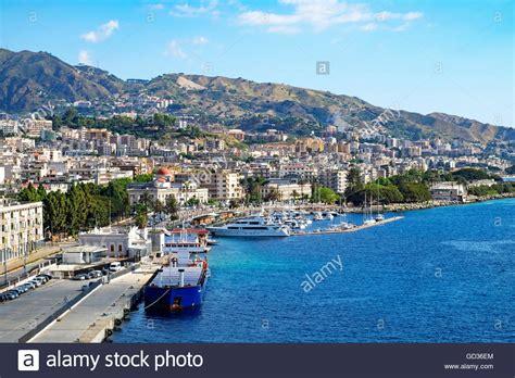 messina cruise port the port in messina sicily italy stock photo 111323708