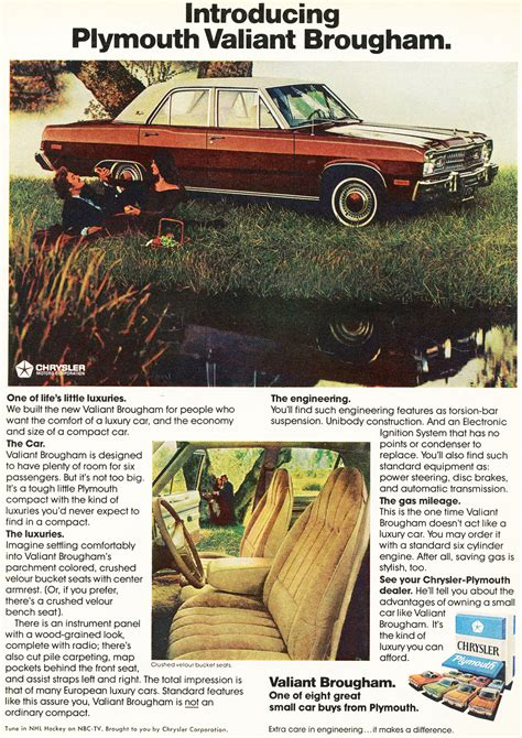 plymouth version of dodge dart 1974 plymouth valiant brougham ad classic cars today