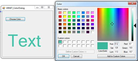 vb net vb net using colordialog c java php programming