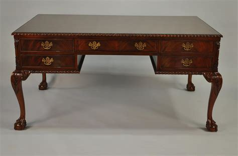 Mahogony Desk by Large Chippendale And Claw Mahogany Partners Desk For