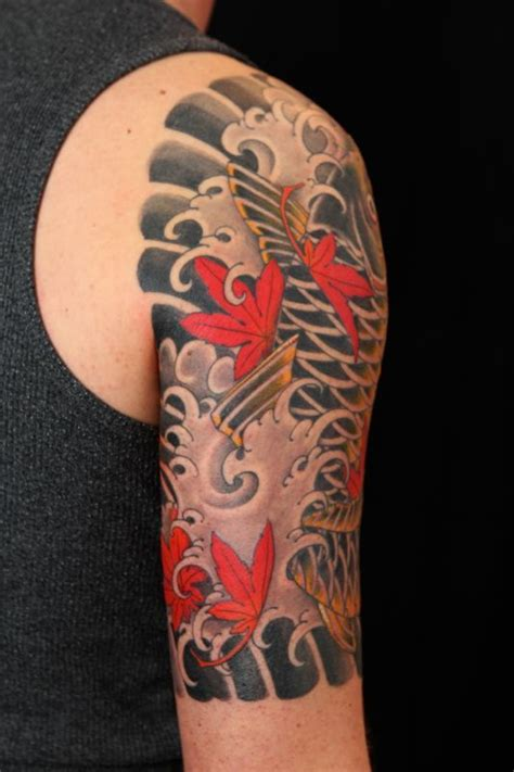 short sleeve tattoo designs the 25 best koi sleeve ideas on