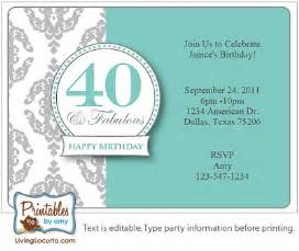 40th birthday invite template 40th birthday invitations template best