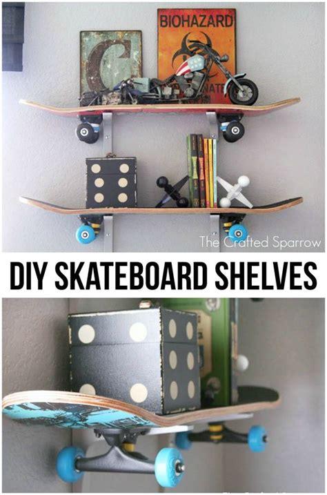 diy skateboard shelves skateboard shelves boy room
