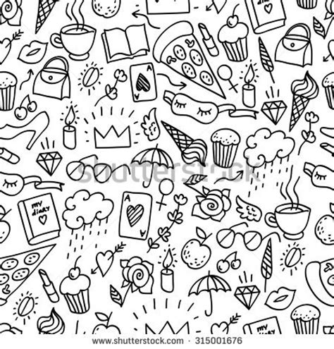 Set Mutiara Simple seamless pattern in a girly style seamless doodle pattern