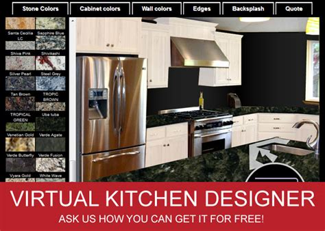 virtual kitchen designer tool free fireups 174 online marketing virtual kitchen designer adds custom color list
