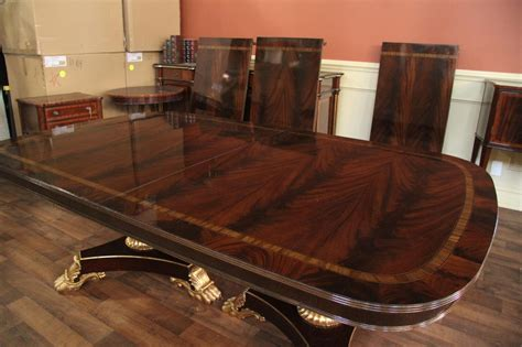 mahogany dining room table large and wide high end american made mahogany dining room table ebay