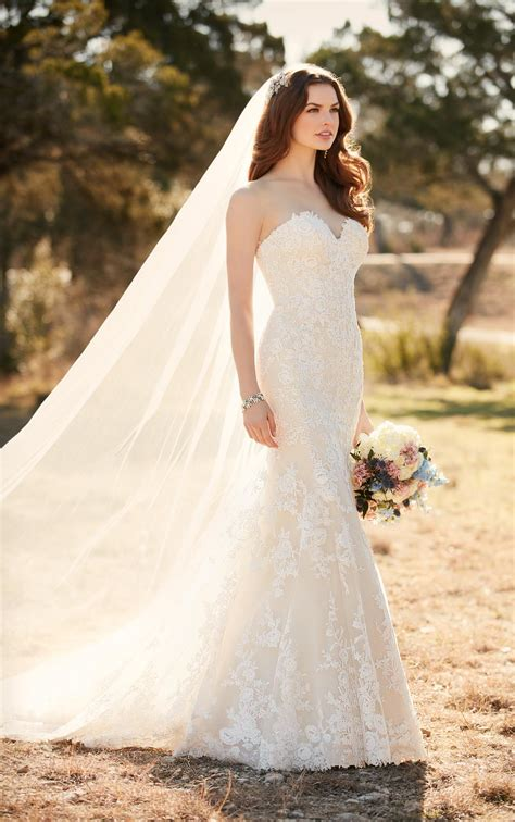 Wedding Dresses Australia by Lace Fit And Flare Wedding Dress Essense Of Australia