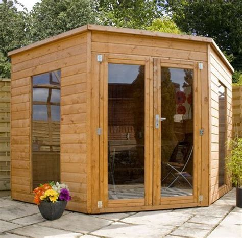 corner sheds ideas  pinterest small shed