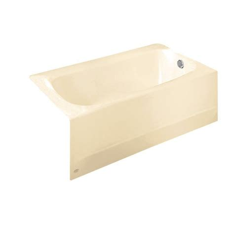 bathtub bone american standard princeton above floor rough 5 ft left