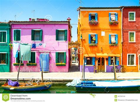 Mediterranean House Plans At venice landmark burano island canal colorful houses and