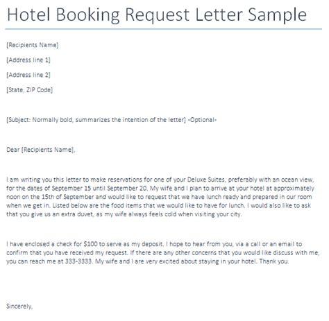 Inquiry Letter Hotel Sle Letter Of Request Hotel Corporate Rate Contoh 36
