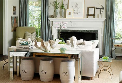 Living Room With Garden Stool Decorating With Garden Stools One Our Style