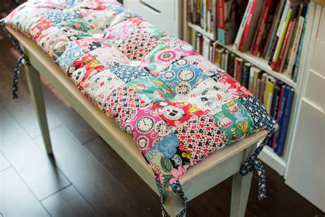 piano bench cushion pattern diy patchwork piano bench or anywhere cushion free