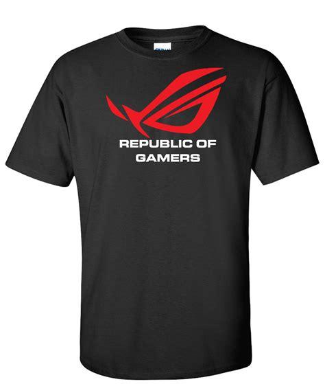 Tshirt Asus asus rog republic of gamers logo graphic t shirt