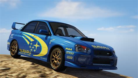 subaru wrx modded subaru impreza wrx sti 2004 world rally team livery