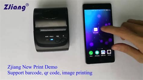 Mini Portable Bluetooth Thermal Receipt Printer Zj 58041217 Limited smartfone printer mini portable thermal receipt bluetooth