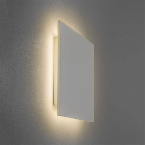 astro eclipse 300 square 3000k plaster led wall light at