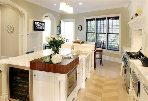 Kitchen Island With Refrigerator by Wine Fridge In Kitchen Island Traditional Kitchen
