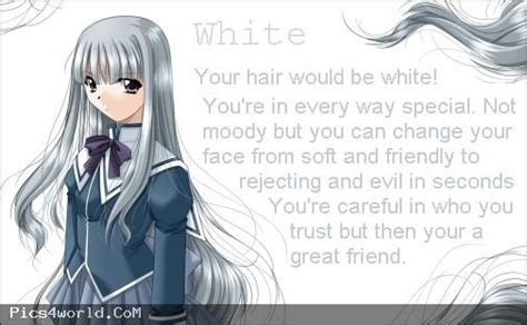 anime hair color meanings white anime hair color meaning anime