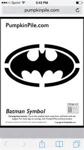 batman symbol pumpkin stencil halloween pinterest