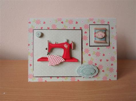 Sewn Cards Handmade - any occasion sewing themed greeting card by wendylizabet