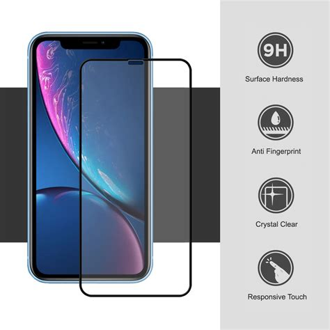 tempered glass screen protector apple iphone xr black