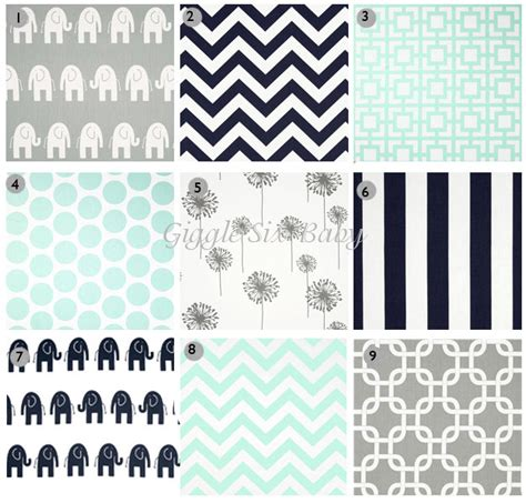 bed sheet fabric options mint gray navy nursery bedding fabric options elephant