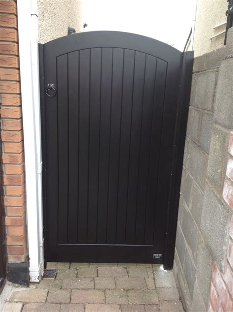 wooden side entrance gate ireland by burke joinery