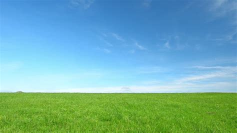 Landscape Context Definition Meadow And Sky Background 3d Animation Stock Footage