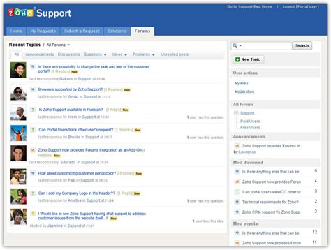 blogger support add online forums to your support portal 171 zoho blog