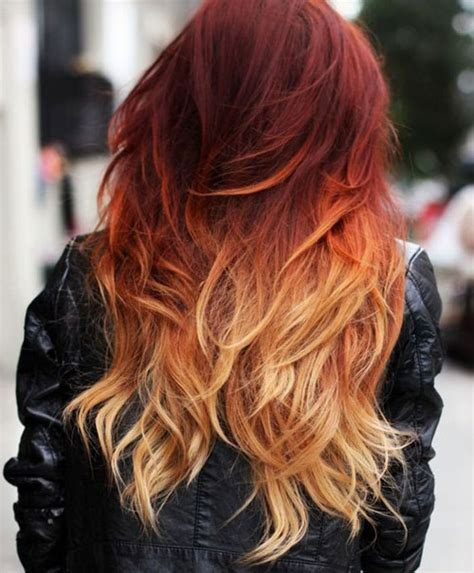 ombre with red and blonde best ombre hairstyles blonde red black and brown hair
