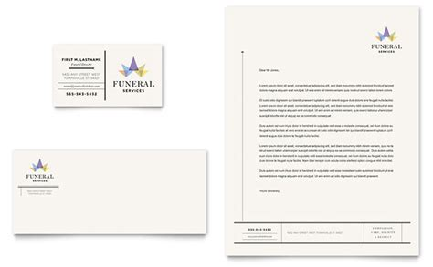 memorial card template publisher funeral services business card letterhead template
