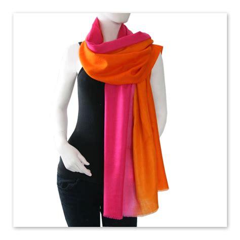 Pashmina New Casmere By Umama 1 black co uk d 233 grad 233 pink to orange shaded pashmina shawl 100 in pink lyst