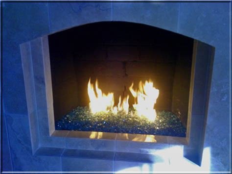 blue green glass fireplace glass fireplaces pit