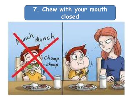 Chew Chomp Eat table manners