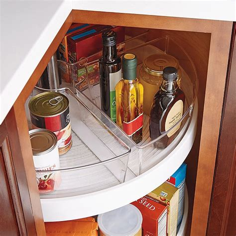 lazy susan organizer for kitchen cabinets interdesign 174 cabinet binz lazy susan quarter wedge