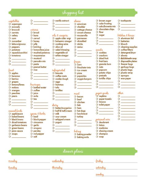 free printable household shopping list sweet inspiration free shopping list printable