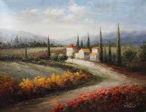 tuscan landscape painting id la 1640 ka