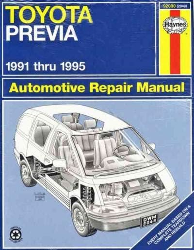 what is the best auto repair manual 1995 ford club wagon seat position control toyota tarago previa estima 1991 1995 haynes service repair manual workshop car manuals