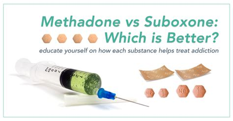 Methadone Vs Suboxone For Detox by Methadone Vs Suboxone Pros And Cons Of Both