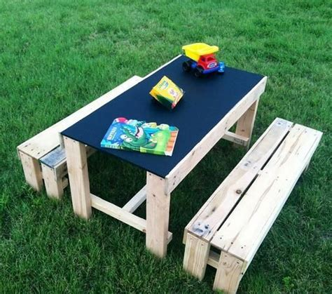 kids bench table pallet made furniture for kids recycled things