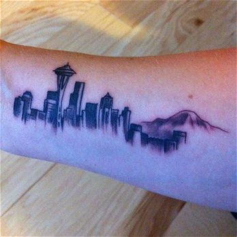 seattle skyline tattoo designs best 25 seattle ideas on