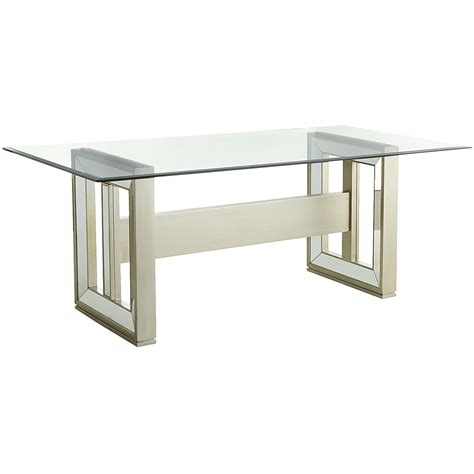Mirror Glass Dining Table Chagne Rectangular Mirrored Dining Table Base Hardwood Tables Gt Kitchen Dining