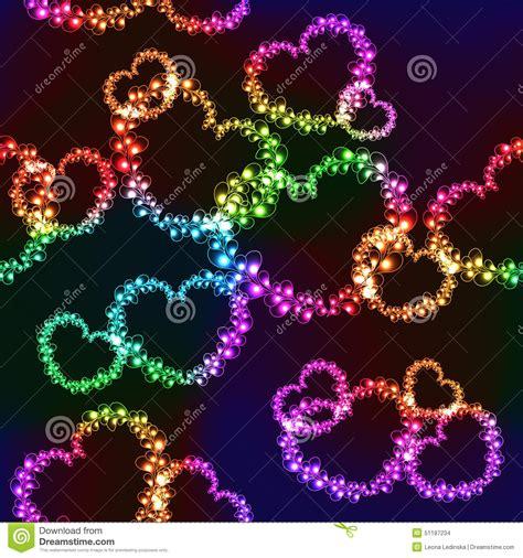 imagenes para celular brillantes fondo negro con los corazones brillantes del color